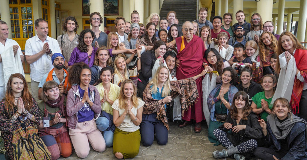 Canadian Group With The Dalai Lama