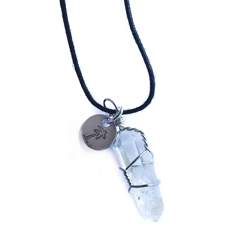 Clear Quartz Stone Necklace