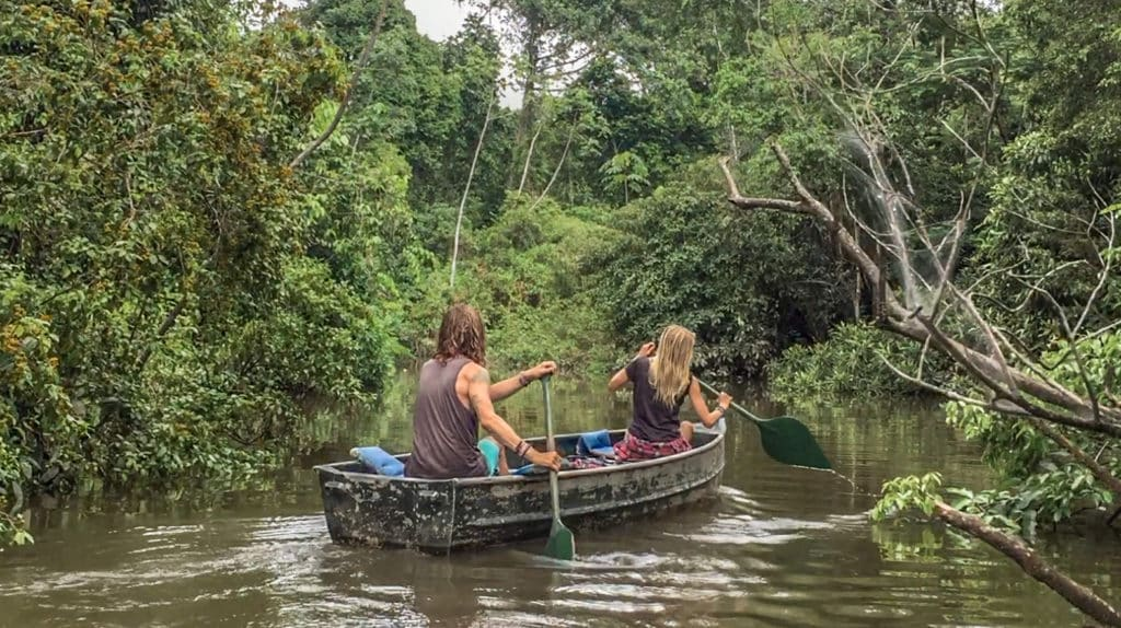 Boho Beautiful paddling the Amazon River